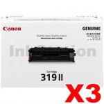 3 x Canon CART-319II Black High Yield  Genuine Laser Toner Cartridge 6,400 pages