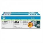 HP CB436AD (36AD) Genuine [TWIN PACK] Black Toner Cartridge [2BK] - 2,000 Pages each