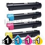 4 Pack Dell C5765 / C5765dn Compatible Toner Cartridges [1BK,1C,1M,1Y]