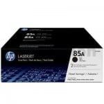 1 x HP CE285A (85A) Genuine [TWIN PACK] Black Toner Cartridge [2BK] - 1,600 Pages each