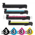 3 Sets of 4 Pack HP CF310A-CF313A (826A) Compatible Toner Cartridges [3BK,3C,3M,3Y]