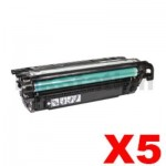 5 x HP CE264X (646X) Compatible Black Toner Cartridge - 17,000 Pages