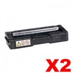2 x Non-Genuine alternative for TK-154K Black Toner Cartridge suitable for Kyocera FS-C1020MFP - 6,500 pages