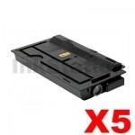 5 x Non-Genuine alternative for TK-7109 Black Toner suitable for Kyocera TASKalfa 3010I - 20,000 Pages