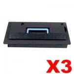 3 x Non-Genuine alternative for TK-715 Black Toner suitable for Kyocera KM-3050, KM-4050, KM-5050, TASKalfa 420i, 520i - 34,000 Pages