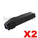2 x Non-Genuine alternative for TK-8309K Black Toner suitable for Kyocera TASKalfa 3050ci, 3550ci - 25,000 pages