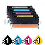 4 Pack Lexmark Compatible X746/X748 Toner Combo - BK 12,000 pages & CMY 7,000 pages [1BK,1C,1M,1Y]