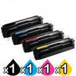 4 Pack Compatible Samsung CLP-415, CLX-4170, CLX-4195 Cartridge Combo CLT504S [1BK,1C,1M,1Y]