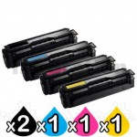 5-Pack Compatible Samsung CLP-680, CLX-6260 Cartridge Combo [CLT506L] - [2BK,1C,1M,1Y]