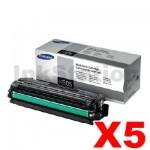 5 x Genuine Samsung SLC2620 SLC2670 SLC2680 Black Toner Cartridge SU169A - 6,000 pages [CLT-K505L K505]