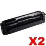 2 x Compatible Samsung CLP-680, CLX-6260 [CLT-K506L K506L] Black Toner SU173A - 6,000 pages