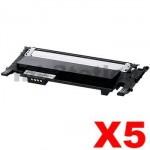 5 x Compatible Samsung CLP-360, CLP-365, CLX-3300, CLX-3305 [CLT-K406S K406] Black Toner SU120A - 1,500 pages