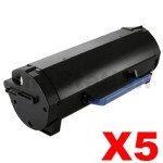 5 x Dell B2360D, B2360DN, B3460DN, B3465DNF Compatible Toner Cartridge - 8,500 pages