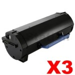 3 x Dell B5460DN, B5465DNF Compatible Toner Cartridge - 25,000 pages