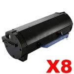 8 x Dell B5460DN, B5465DNF Compatible Toner Cartridge - 25,000 pages