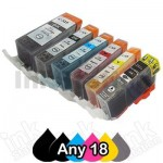 Any 18 x Canon PGI-650XL CLI-651XL Compatible High Yield Inkjet Cartridges