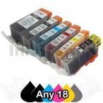 Any 18 x Canon PGI-650XL CLI-651XL Compatible High Yield Inkjet Cartridges