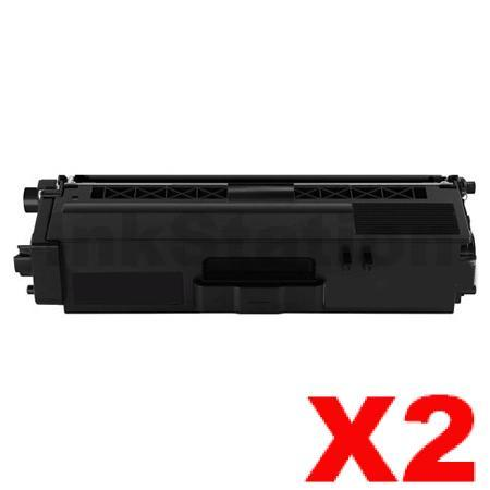 2 x Compatible Brother TN-346BK Black High Yield Toner Cartridge - 4,000 pages