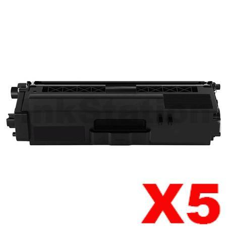 5 x Compatible Brother TN-346BK Black High Yield Toner Cartridge - 4,000 pages