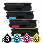3 sets of 4-Pack Compatible Brother TN-346 High Yield Toner Combo [3BK,3C,3M,3Y]