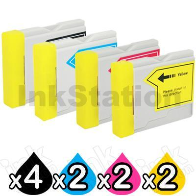 10 Pack Brother LC-57 Compatible Ink Combo  [4BK,2C,2M,2Y]