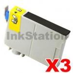 3 x Compatible Epson 133 T1331 Black Ink Cartridge (C13T133192)