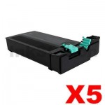 5 x Compatible Samsung SLM4370, SLM5370 (MLT-D358S) Black Toner Cartridge SV111A - 30,000 pages