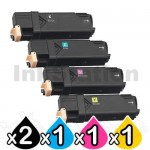 5-Pack Compatible Cartridge Combo for Fuji Xerox C1110 [2BK,1C,1M,1Y]