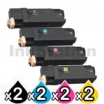 2 sets of 4-Pack Compatible Cartridge Combo for Fuji Xerox C2120 [2BK,2C,2M,2Y]