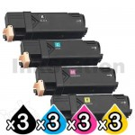 3 sets of 4 Pack Compatible Fuji Xerox DocuPrint CP305d,CM305df Toner Cartridges (CT201632-CT201635)