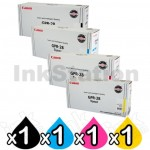 4 Pack Genuine Canon (GPR-28) TG-41 Toner Cartridges [1BK,1C,1M,1Y]