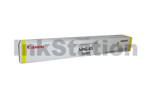 1 x Genuine Canon (GPR-30) TG-45 Yellow Toner - 38,000 pages