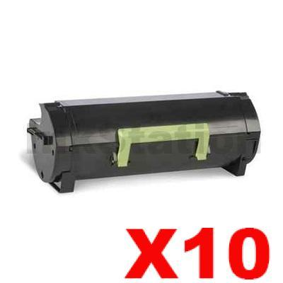 10 x Lexmark 603H (60F3H00) Compatible MX310 / MX410 / MX511 / MX611 Black High Yield Toner Cartridge - 10,000 pages