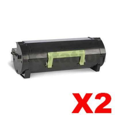 2 x Lexmark 603H (60F3H00) Compatible MX310 / MX410 / MX511 / MX611 Black High Yield Toner Cartridge - 10,000 pages