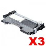 3 x Brother TN-2030 Compatible Toner High Yield - 2,600 pages
