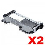 2 x Brother TN-2250 Compatible Toner - 2,600 pages