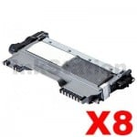 8 x Brother TN-2250 Compatible Toner - 2,600 pages