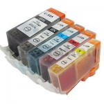5 Pack Canon PGI-650XL CLI-651XL Compatible High Yield Inkjet Cartridges [1BK,1PBK,1C,1M,1Y]