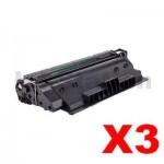 3 x Compatible Canon CART-333 Black Toner Cartridge - 10,000 Pages