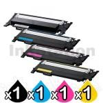 4-Pack Compatible Samsung SLC430, SLC480FW Cartridge Combo CLT404S [1BK,1C,1M,1Y]