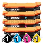 4 Pack HP CF330X-CF333A (654A/654X) Compatible High Yield Toner Cartridges [1BK,1C,1M,1Y]