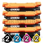 2 sets of 4 Pack HP CF330X-CF333A (654A/654X) Compatible High Yield Toner Cartridges [2BK,2C,2M,2Y]