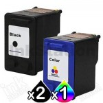 3 Pack HP 56 + 57 Compatible Inkjet Cartridges C6656AA + C6657AA [2BK,1CL]