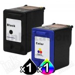 2 Pack HP 56 + 57 Compatible Inkjet Cartridges C6656AA + C6657AA [1BK,1CL]