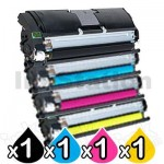 4-Pack Konica Minolta QMS Magicolour 2400 / 2500 Series Compatible Toner Set - 4,700 pages Each
