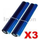 3 x Panasonic KX-FA136 Compatible Ink Film [2 rolls Value Pack]