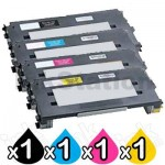 4 Pack Lexmark Compatible C510 Toner Cartridges High Capacity - BK 10,000 pages & CMY 6,600 pages