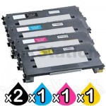 5 Pack Lexmark Compatible C510 Toner Cartridges High Capacity - BK 10,000 pages & CMY 6,600 pages