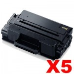 5 x Compatible Samsung SLM3820 / SLM3870 / SLM4020 / SLM4070 (MLT-D203E 203E) Extra High Yield Black Toner SU887A - 10,000 pages