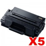 5 x Compatible Samsung SLM3820 / SLM3870 / SLM4020 / SLM4070 (MLT-D203L 203L) High Yield Black Toner SU899A - 5,000 pages